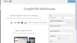 Gmail Regisztráció