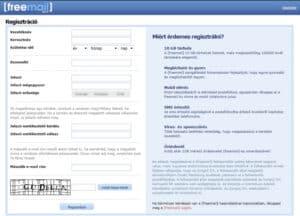 Freemail regisztráció