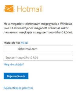 Hotmail Belépés