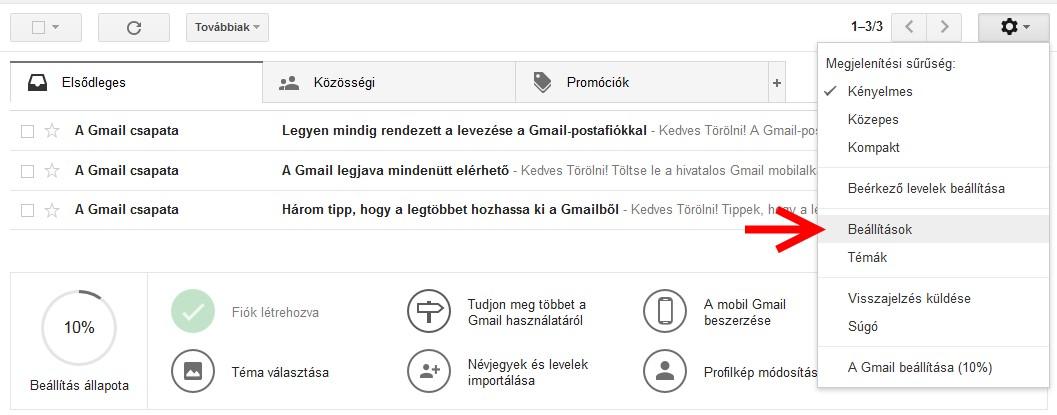 Gmail fiók törlése